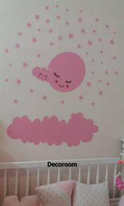 نمونه نصب شده برچسب دیواری اتاق کودک