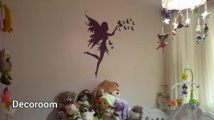 نمونه اجرا شده برچسب دیواری دخترانه