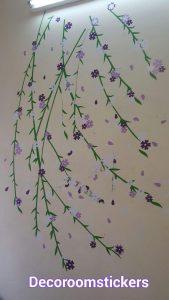 نمونه اجرا شده برچسب دیواری نخل درختی