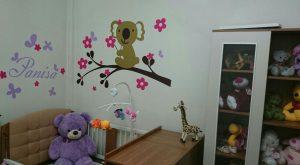 نمونه اجرا شده برچسب دیواری اتاق کودک