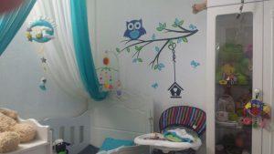 نمونه اجرا شده برچسب دیواری اتاق نوزاد