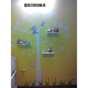 نمونه اجرا شده برچسب دیواری اندازه گیری قد کودک