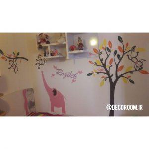 نمونه اجرا شده برچسب دیواری رنگارنگ