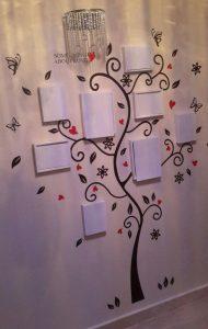نمونه نصب شده برچسب دیواری طرح درخت