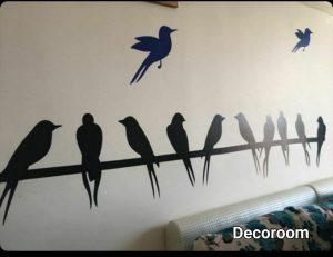 نمونه تولید شده برچسب دیواری پرنده