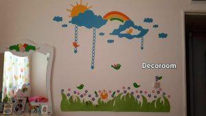 نمونه تولید شده برچسب دیواری اتاق کودک