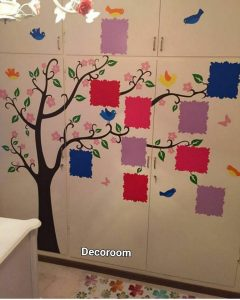 نمونه تولید شده برچسب دکورووم در مهد کودک مشهد