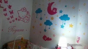 نمونه تولید شده برچسب دیواری اتاق نوزاد