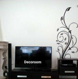 نمونه تولید شده برچسب دیواری پشت تلوزیون