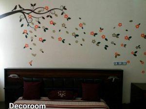 نمونه تولید شده برچسب دیواری اتاق خواب