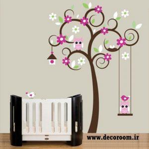 برچسب دیواری درخت کودکانه