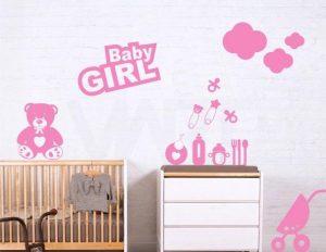 برچسب دیواری اتاق دخترانه